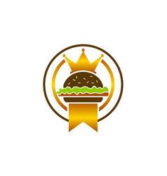 King burger logo design template vector