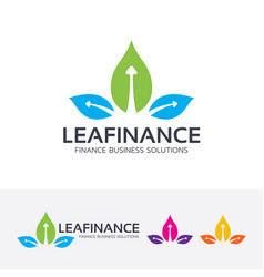 leaf finance logo design vector image