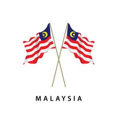 Malaysia flag template design vector