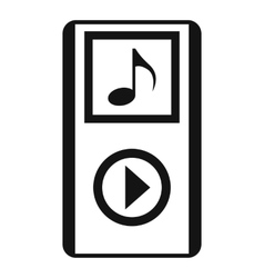 Mini MP3 portable player icon simple style vector