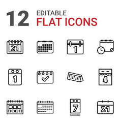 Month icons vector