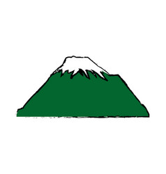 Mountain snow peak natural landscape image vector