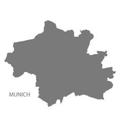 Munich city map grey silhouette shape vector