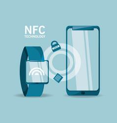 Nfc payment design concept vector