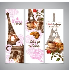 Paris Vertical Banners vector image