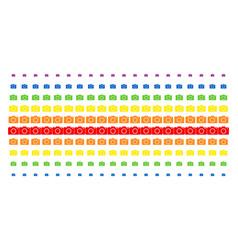 photo camera shape halftone spectral pattern vector image