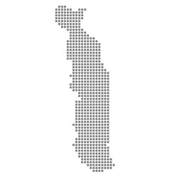 pixel map of togo dotted map of togo isolated on vector image