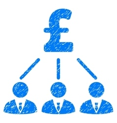 Pound Shareholders Grainy Texture Icon vector image