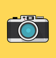 retro photo camera with half tone vector image
