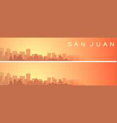 San juan puerto rico beautiful skyline scenery vector