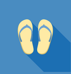 Sandal for summer icon vector