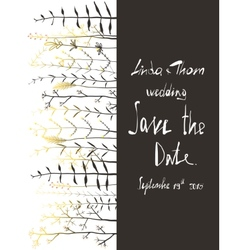save date invitation card template vector image