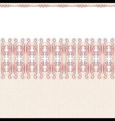 seamless background red lace on a white background vector image