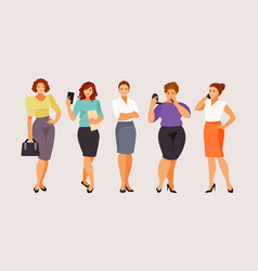 set of business women vector image