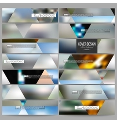 Set of modern banners Abstract multicolored vector
