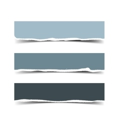 Set of three torn paper banners vector image