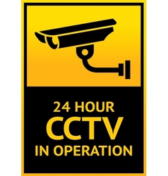 Sign security camera vector