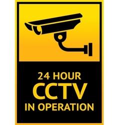 Sign security camera vector