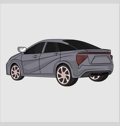 Sport car toyota fcv 2015 vector
