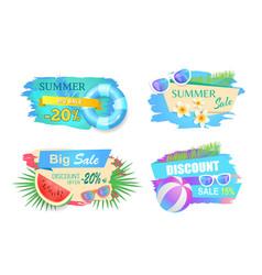 summer big sale discounts set vector image