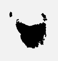 Tasmania australia map black silhouette vector