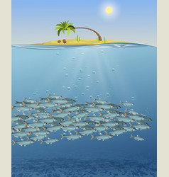 the sea landscape the vector image