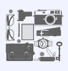 things a man carries with him watch keys vector image