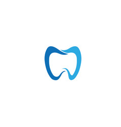 tooth whitening clinic dentist logo design vector image