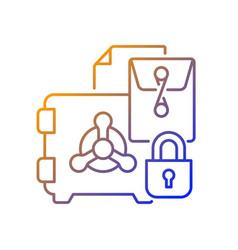 Trade secrets gradient linear icon vector