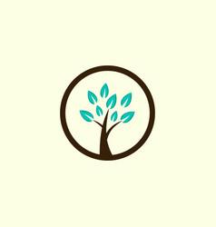 tree gardening circle creative business logo vector image