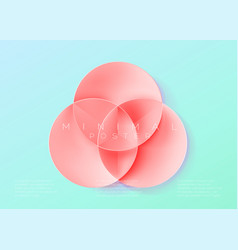 trendy minimal poster pastel vibrant background vector image