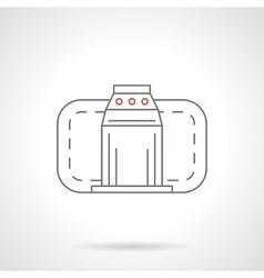 Turnstile flat line icon vector image