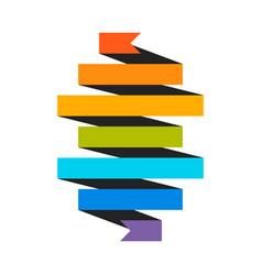 vintage ribbon icon vector image