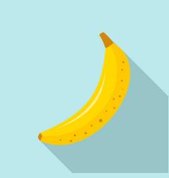 whole banana icon flat style vector image