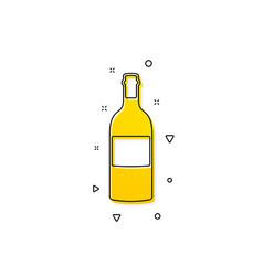 Wine bottle icon merlot or cabernet sauvignon vector