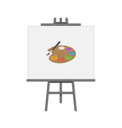 wooden easel template black vector image
