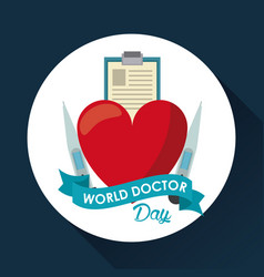 world doctor day vector image