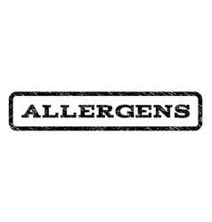 allergens watermark stamp vector image vector image