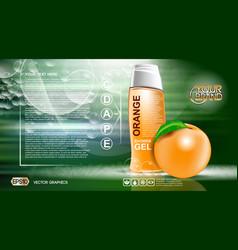 digital orange and green shower gel vector image vector image