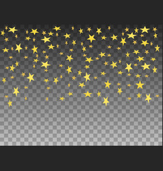 golden objects falling stars vector image vector image