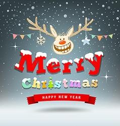 Merry Christmas Reindeer sketch design vector image vector image
