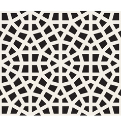 Seamless Black and White Hexagon Lines vector image