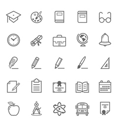 Set of Outline stroke Education icon vector image vector image