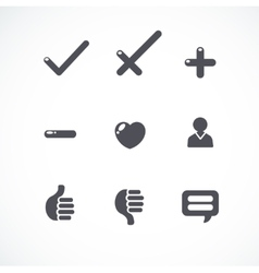 simple flat icons collection vector image vector image