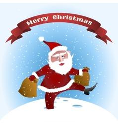 walking Santa vector image vector image