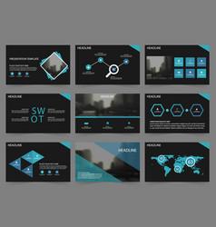 blue black abstract presentation templates vector image vector image
