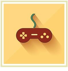 Computer Video Game Controller Joystick Flat vector image