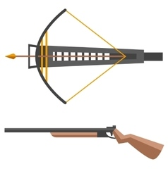 Crossbow gun vector image