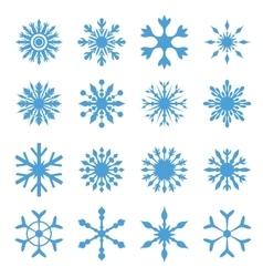 Elegant Snowflakes Set vector image