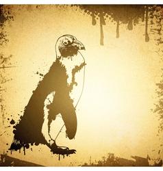 Grunge Penguin vector image vector image